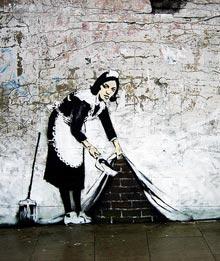 Graffiti de Banksy a un carrer de Londres