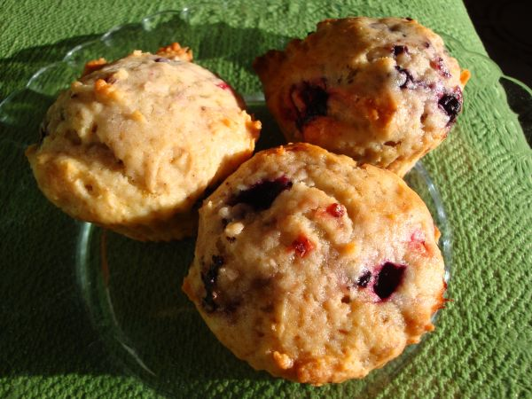 Muffins amb fruites del bosc