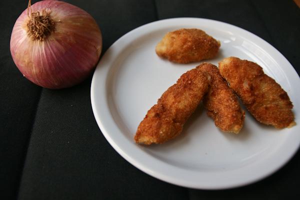 Croquetes de poma i ceba