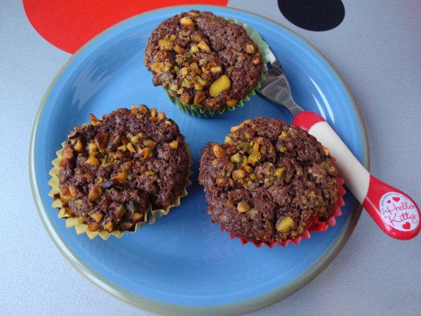 Muffins de xocolata i pistatxos