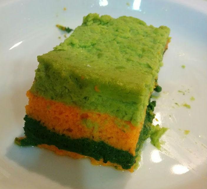 Pastís tricolor de verdures